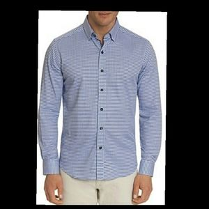 Robert Graham Men's ButtonDown Shirt XL Light Blue